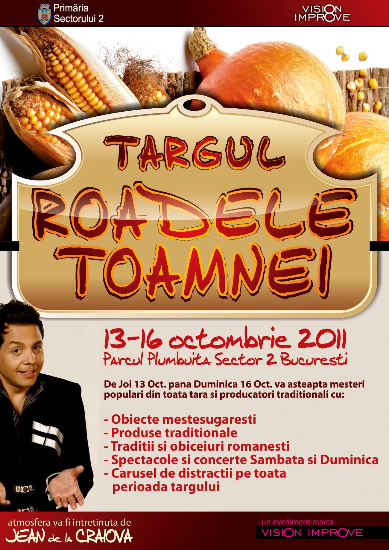 """Invitatie la Tragul """" Roadele Toamnei"""", 13- 16 octombrie 2011, Parcul Plumbuita- Sector 2 Bucuresti"""